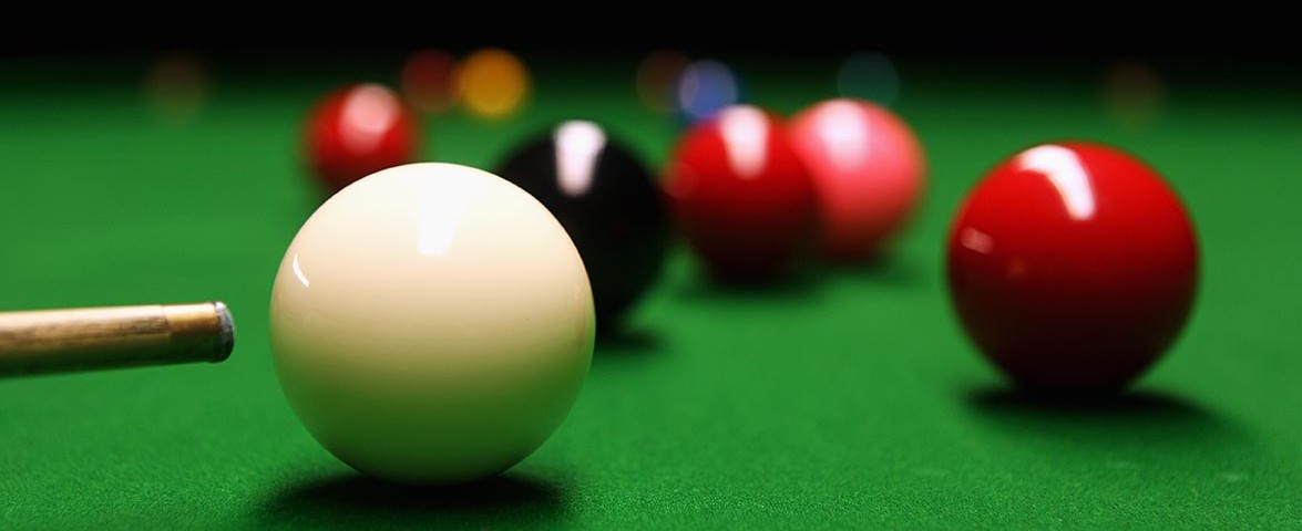 LONDON, ENGLAND - JANUARY 15:  A detailed view of a cue and snooker balls shot in the practice room during The Ladbrokesmobile Masters on Day 7 at Wembley Arena on January 15, 2011 in London, England.  (Photo by Dean Mouhtaropoulos/Getty Images)
